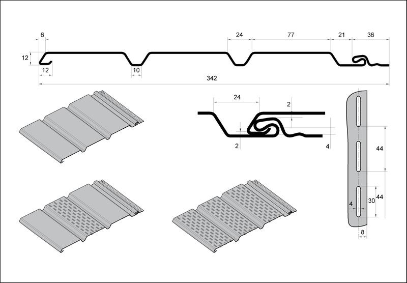 софиты для крыши размеры